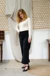 L'incomparable - pantalon large en velours noir - C. Bergamia - 2
