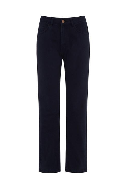 Pantalon bleu en twill - irena - People Tree num 4