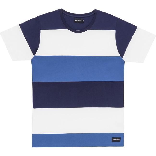 T-shirt en coton bio navy cenitz - Bask in the Sun
