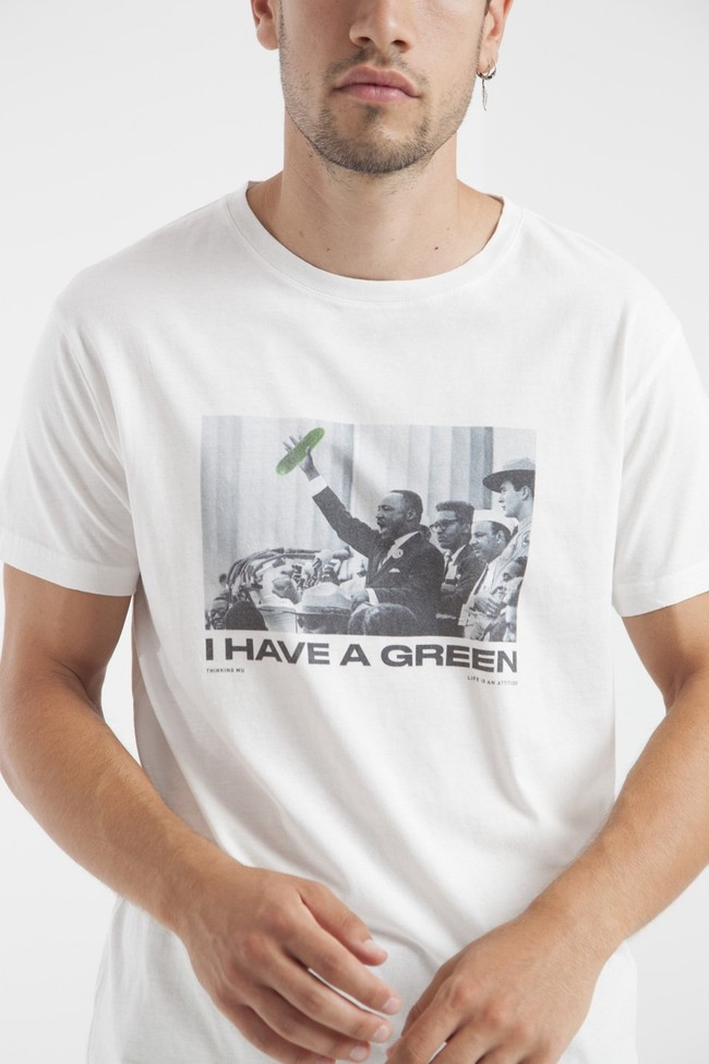 T-shirt en coton bio i have a green - Thinking Mu num 2