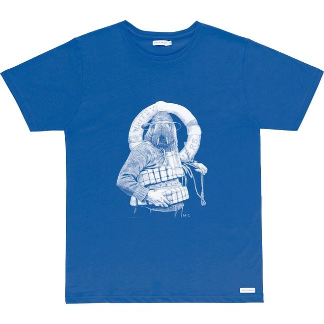 T-shirt en coton bio blue walrus - Bask in the Sun