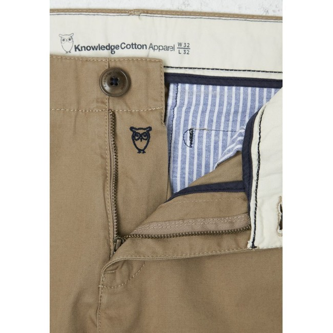 Chino beige en coton bio - chuck - Knowledge Cotton Apparel num 2