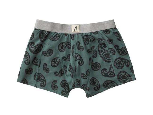 Boxer vert à motifs en coton bio - Nudie Jeans