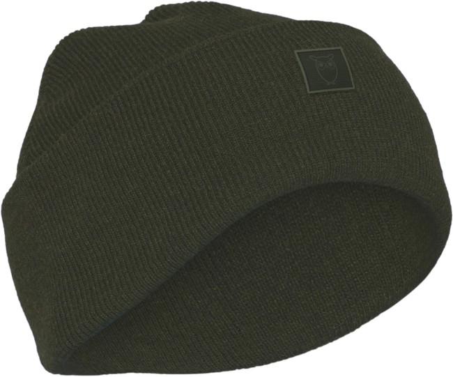 Bonnet vert forêt en laine bio - leaf - Knowledge Cotton Apparel