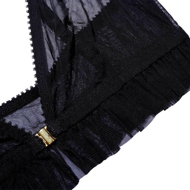 Soutien-gorge noir en polyester recyclé - nikoline - Underprotection num 5