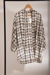 Kimono cassis // noir et blanc - Bagarreuse - 2
