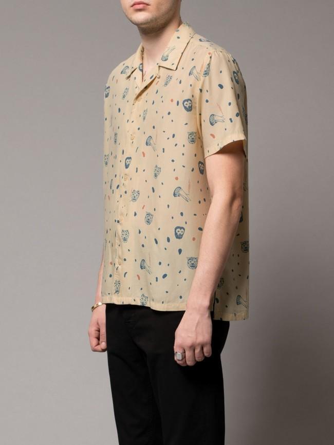 Chemise manches courtes à motifs en coton bio - arvid misfit - Nudie Jeans num 1