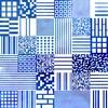 "Top ""caraco"" motif qrcode - Bleu Tango - 6"