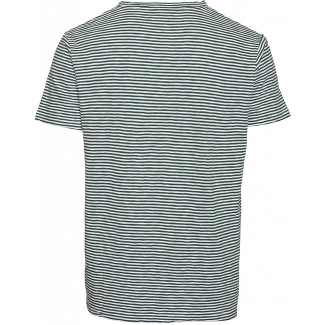 T-shirt rayé vert forêt en coton bio - alder - Knowledge Cotton Apparel num 1