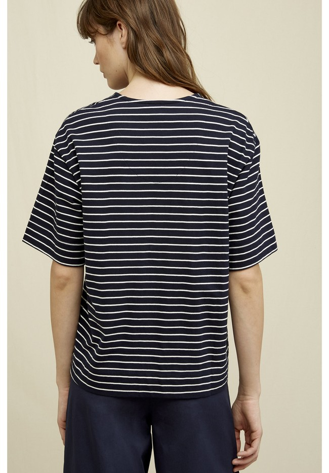 T-shirt rayé en coton bio - sarah - People Tree num 1