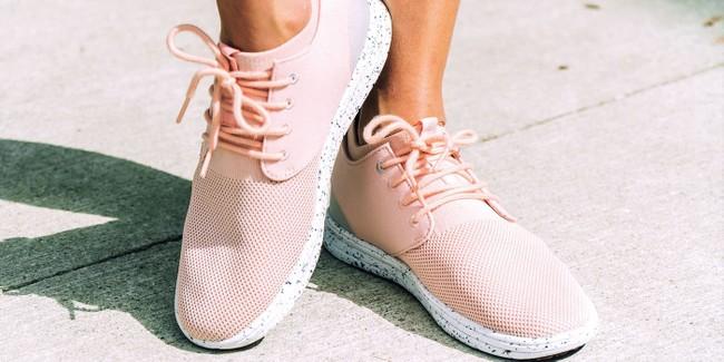 Chaussures recyclées semnoz ii femme rose gold - Saola num 1