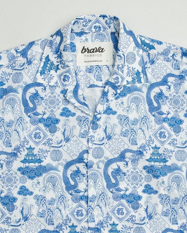 Chinese jar aloha shirt - Brava Fabrics num 2