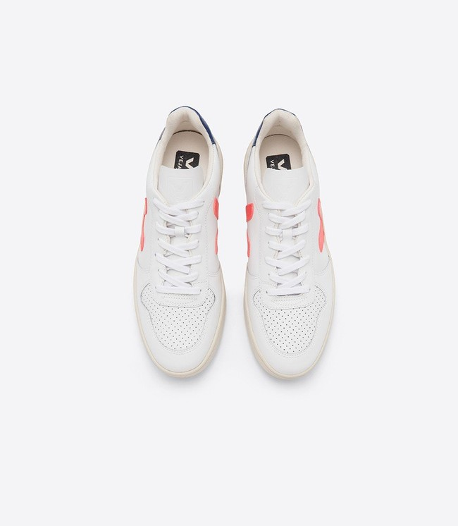 Baskets v-10 extra white orange cobalt - Veja num 1