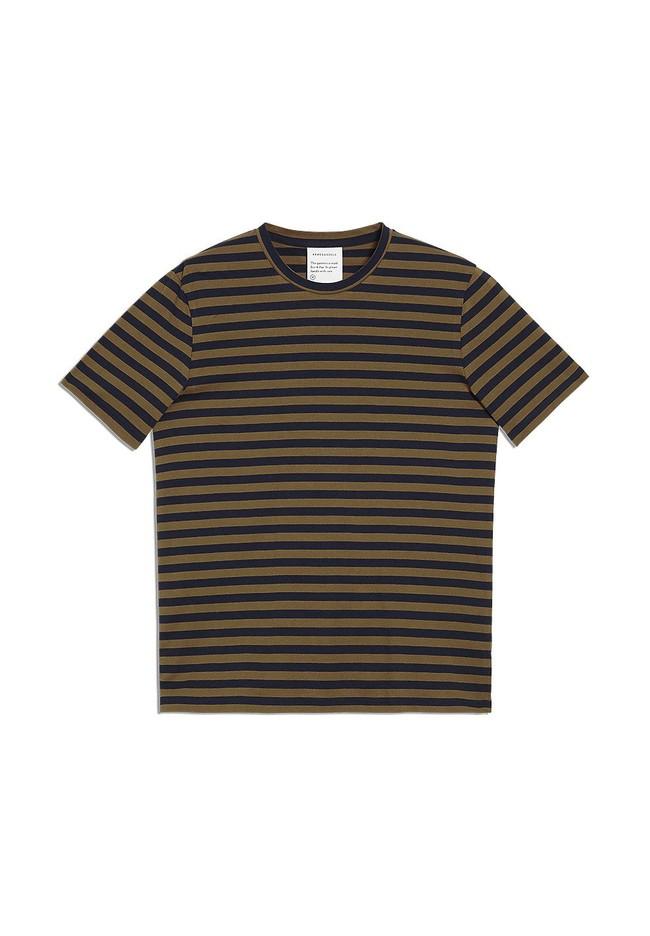 T-shirt rayé en coton bio - jaames breton - Armedangels num 4