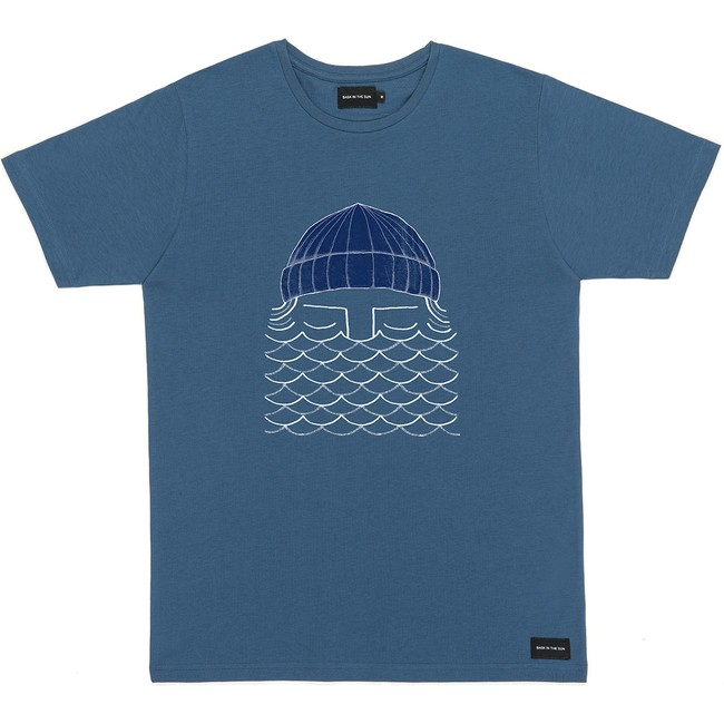 T-shirt en coton bio blue to the sea - Bask in the Sun