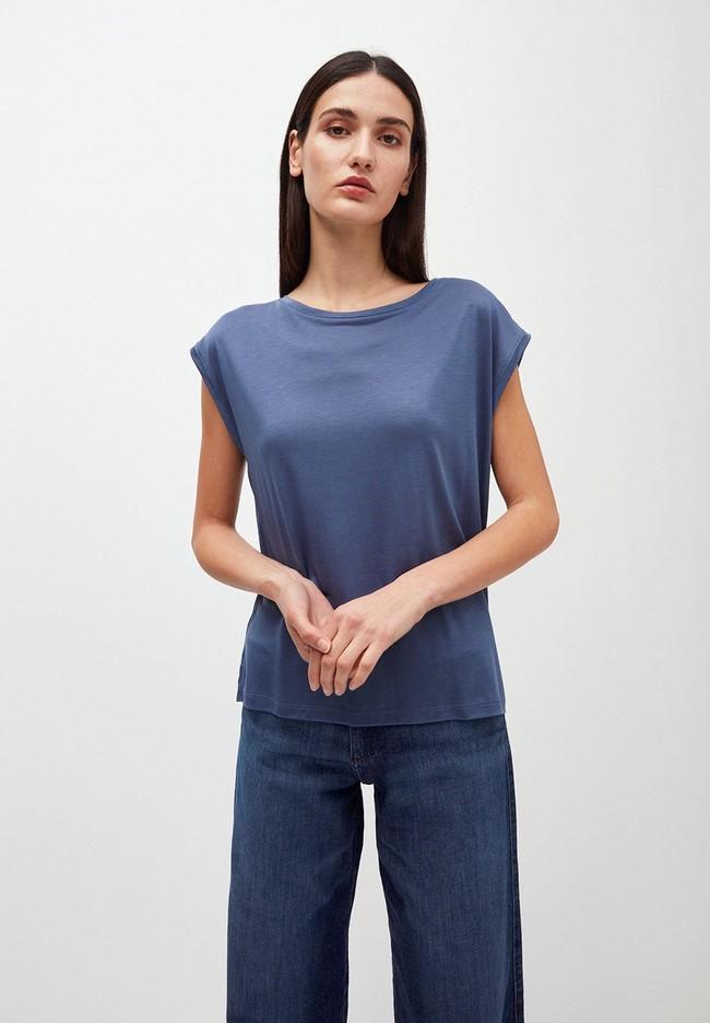 T-shirt bleu indigo en tencel - jilaa - Armedangels