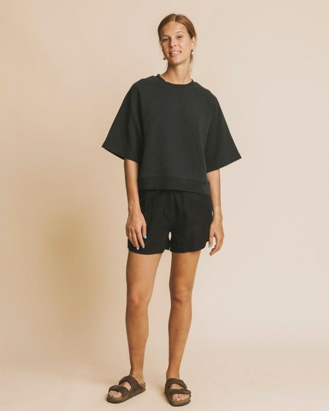 Short noir en coton bio - mamma - Thinking Mu num 2