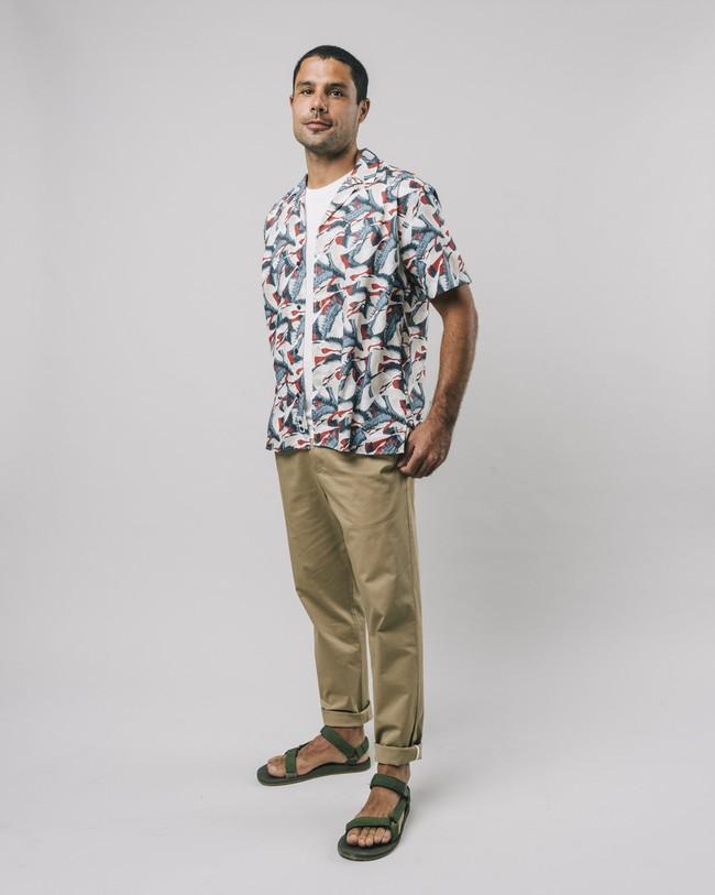 Crane for luck aloha shirt - Brava Fabrics num 3