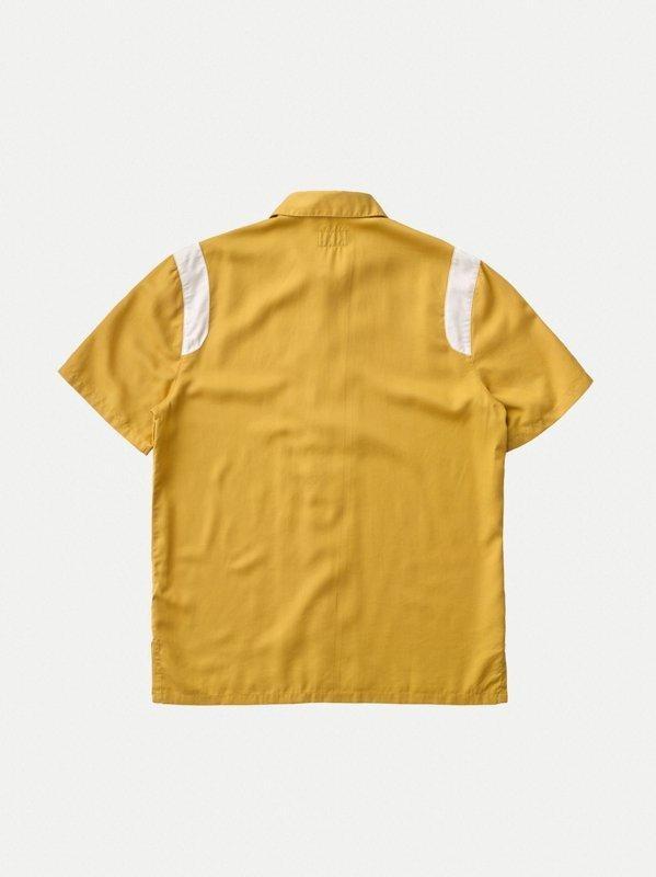 Chemise manches courtes safran en tencel - jack bowling - Nudie Jeans num 4
