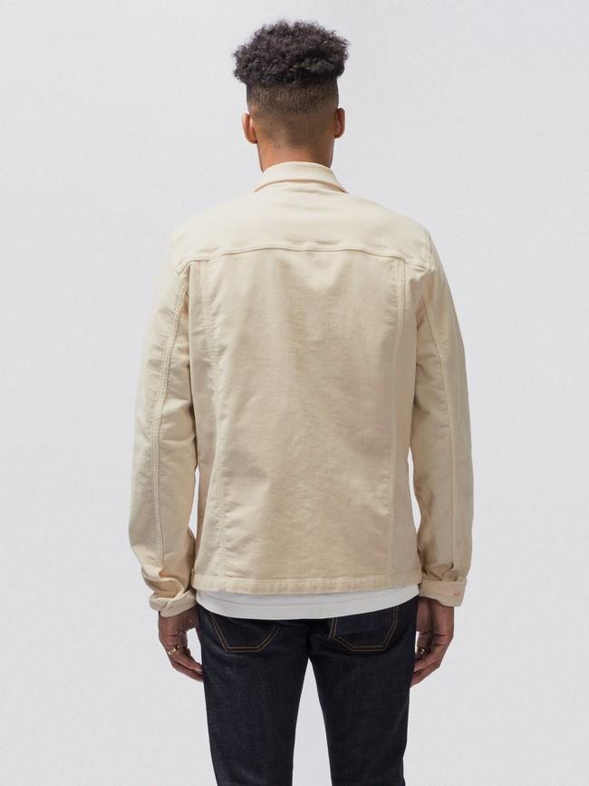 Veste en velours écru en coton bio - ronny - Nudie Jeans num 3