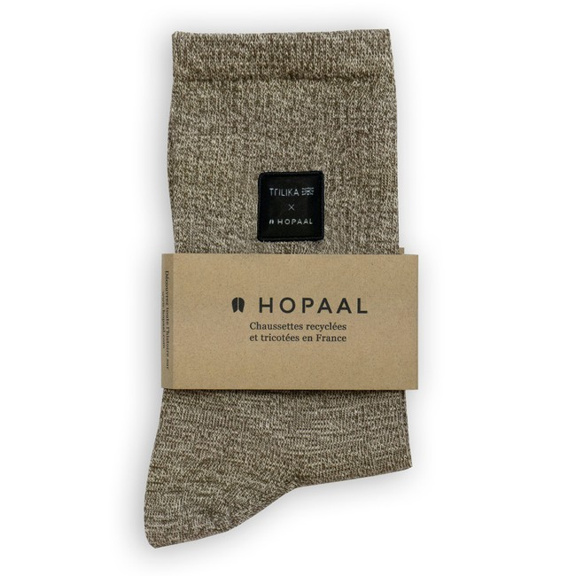 Chaussettes recyclées - ozeano marron chiné - Hopaal