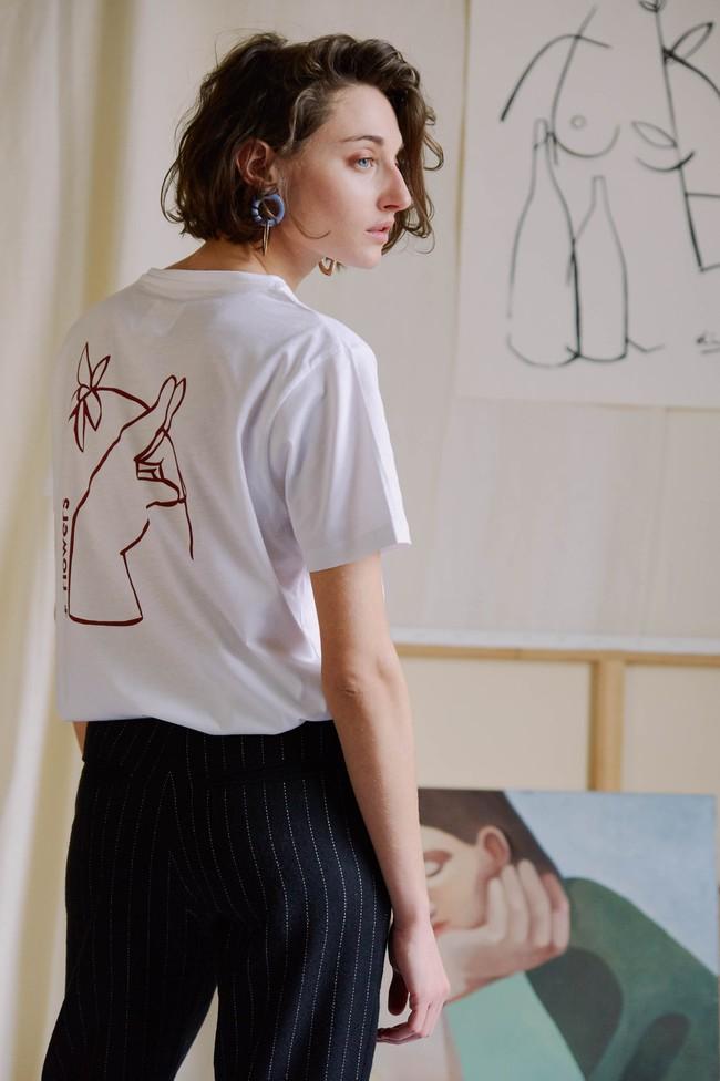 T-shirt coton bio - noyoco x diane - Noyoco num 7
