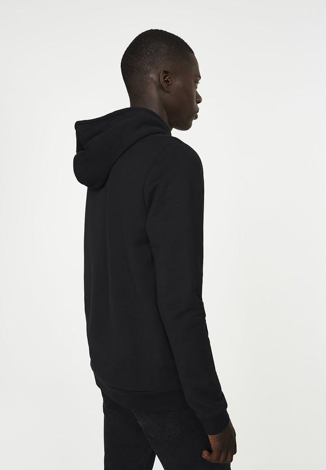 Veste zippée noire en coton bio et polyester recyclé - joaa - Armedangels num 2