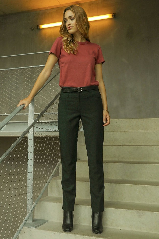 Pantalon tailleur new-york vert profond - 17h10 num 2