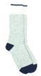 Chaussettes thalweg - laine bleu & gris clair - Maison Izard num 0