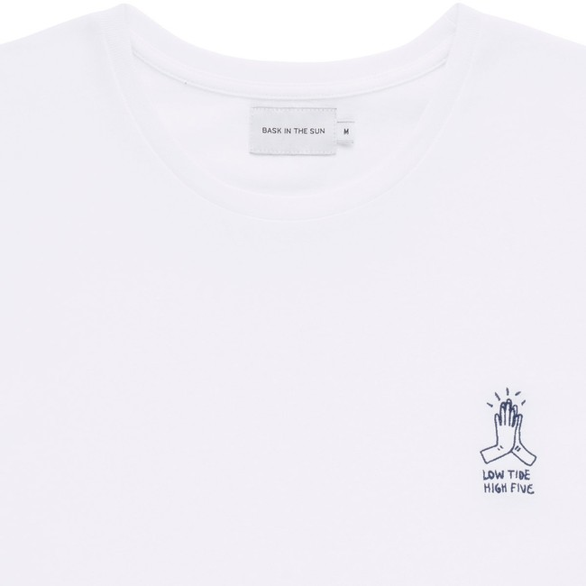 T-shirt en coton bio white high five - Bask in the Sun num 1