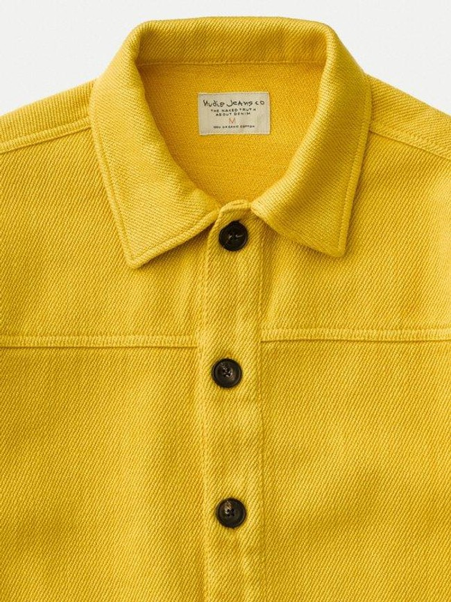 Surchemise jaune twill en coton bio - elias - Nudie Jeans num 4
