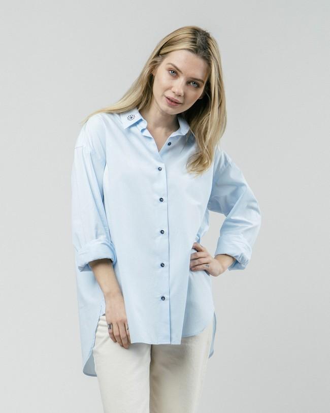 Tile essential oversized blouse - Brava Fabrics
