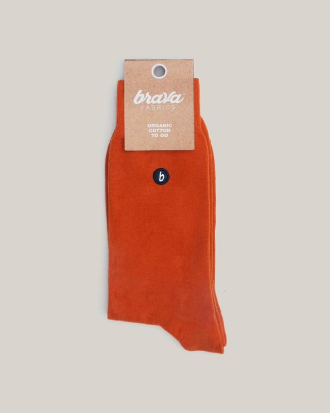 Organic cotton socks orange - Brava Fabrics