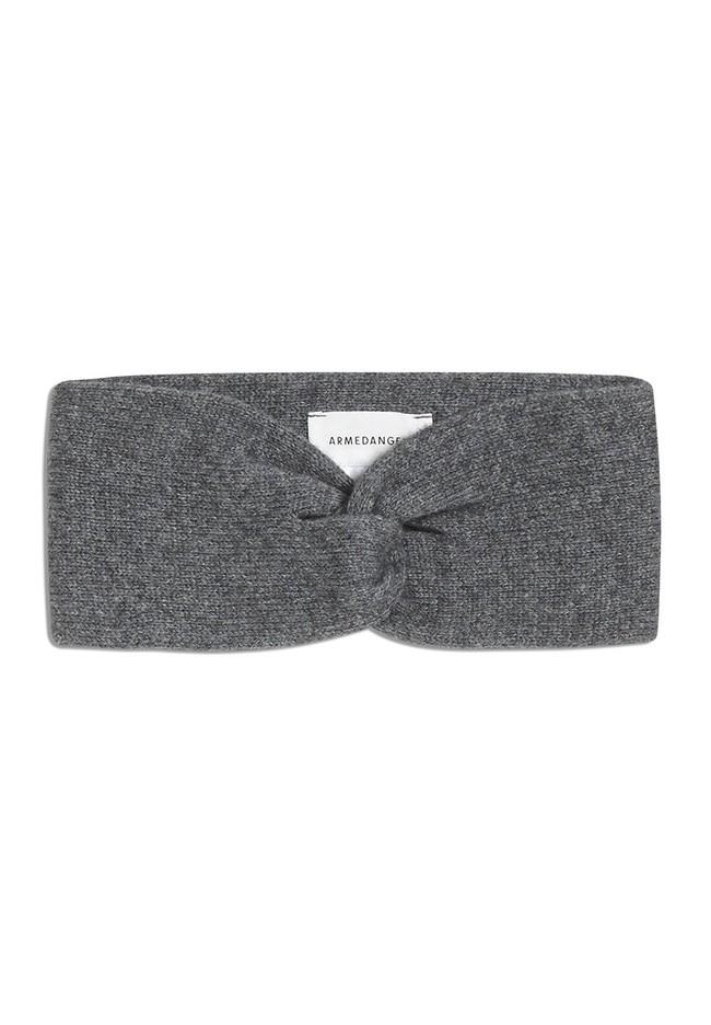 Bandeau gris en coton bio et laine - maritaa - Armedangels