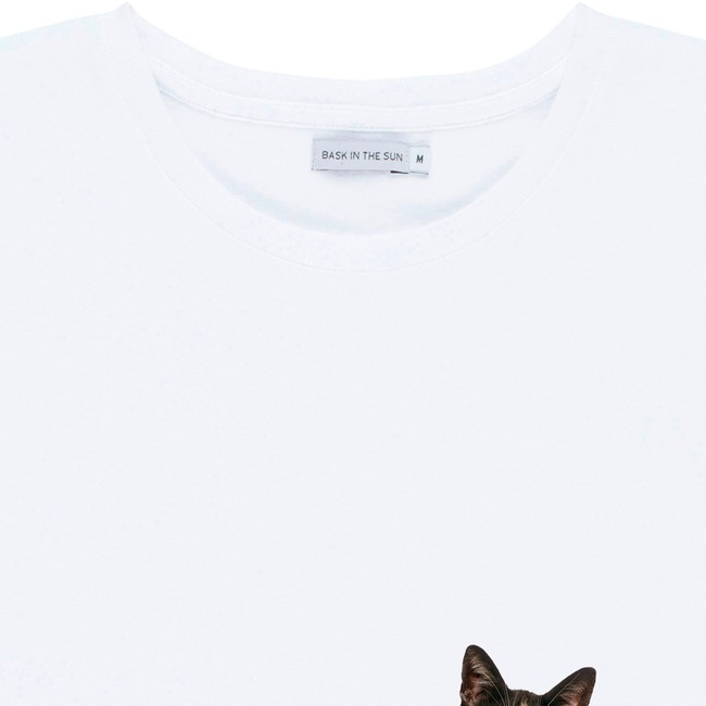 T-shirt en coton bio white catseal - Bask in the Sun num 1