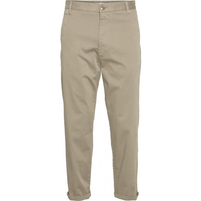 Chino court ample beige en coton bio - bob - Knowledge Cotton Apparel
