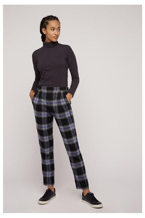 Pantalon carreaux en coton bio - reiko - People Tree num 3