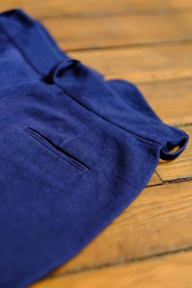 Pantalon  marine en coton bio - Atelier Unes num 4