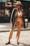 Pantalon tailleur casablanca camel - 17h10 - 5