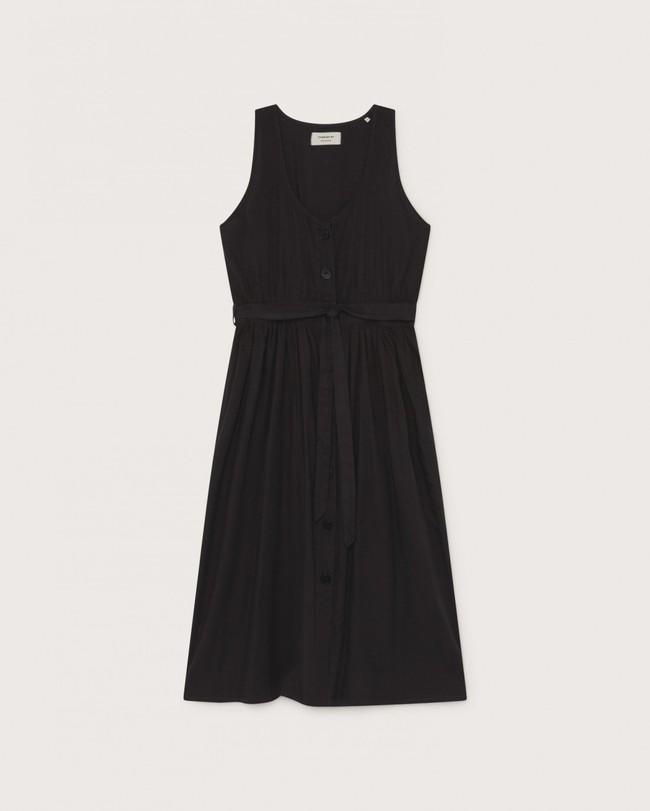 Robe midi noire en coton bio - black jolie - Thinking Mu num 3