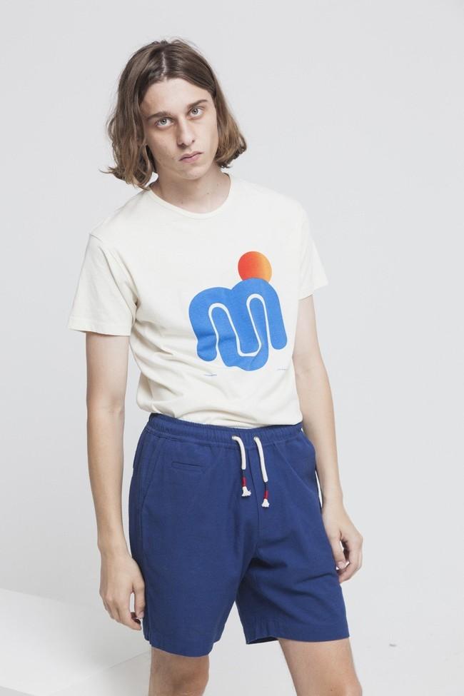 T-shirt imprimé blanc en coton bio - mu sun - Thinking Mu num 3