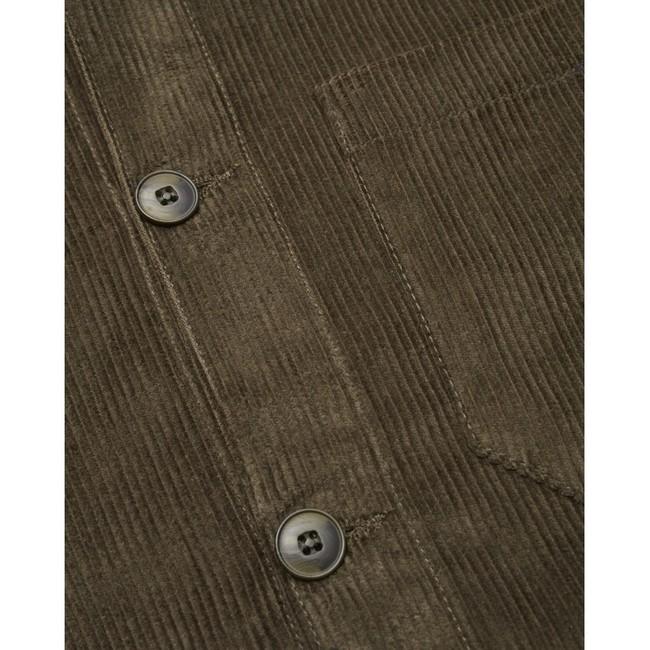 Veste velours vert forêt en coton bio - Knowledge Cotton Apparel num 3