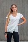 T-shirt femme en lin bio - blanc cassé - Caruus - 5