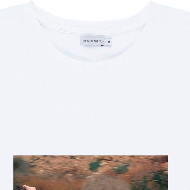 T-shirt en coton bio white ellen - Bask in the Sun num 1
