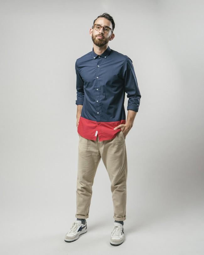 Navy tile essential shirt - Brava Fabrics num 2