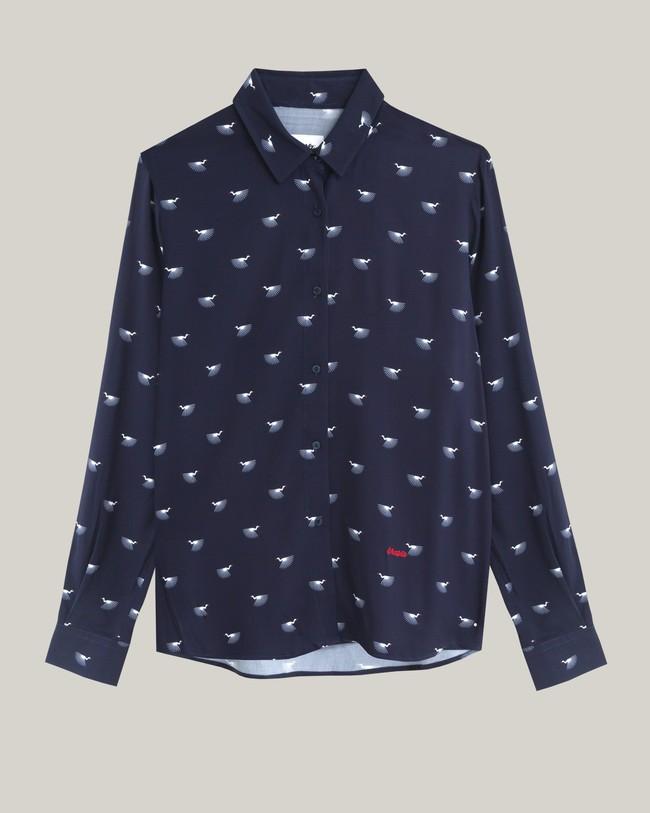 Japanese sky printed blouse - Brava Fabrics num 1