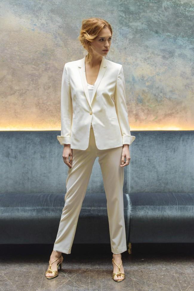 Pantalon tailleur new-york ivoire - 17h10 num 1