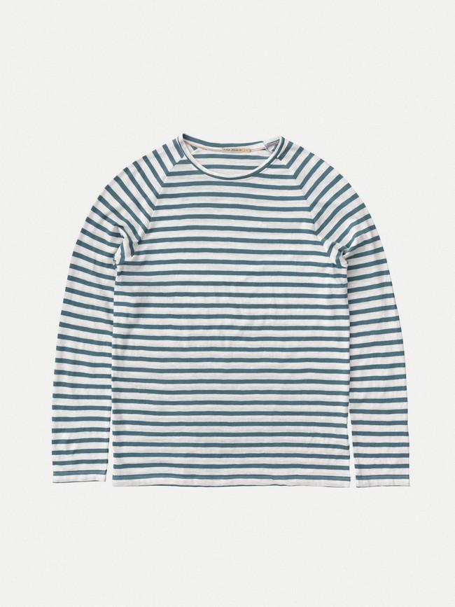 Sweat rayé marine en coton bio - otto breton - Nudie Jeans num 5