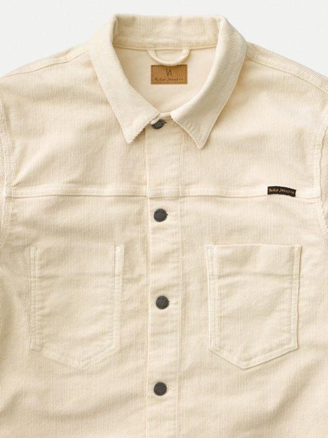 Veste en velours écru en coton bio - ronny - Nudie Jeans num 7