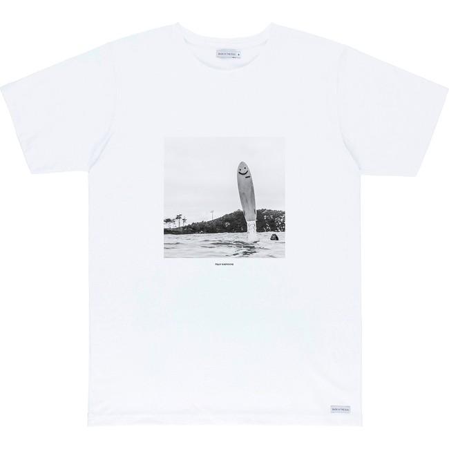 T-shirt en coton bio white pleasure - Bask in the Sun